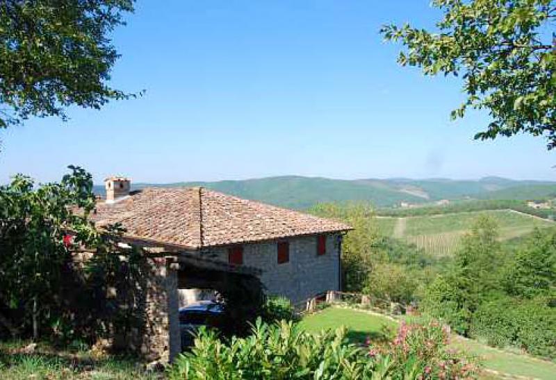 Location maisons gaiole in chianti villa poggione en for Acheter une maison en toscane